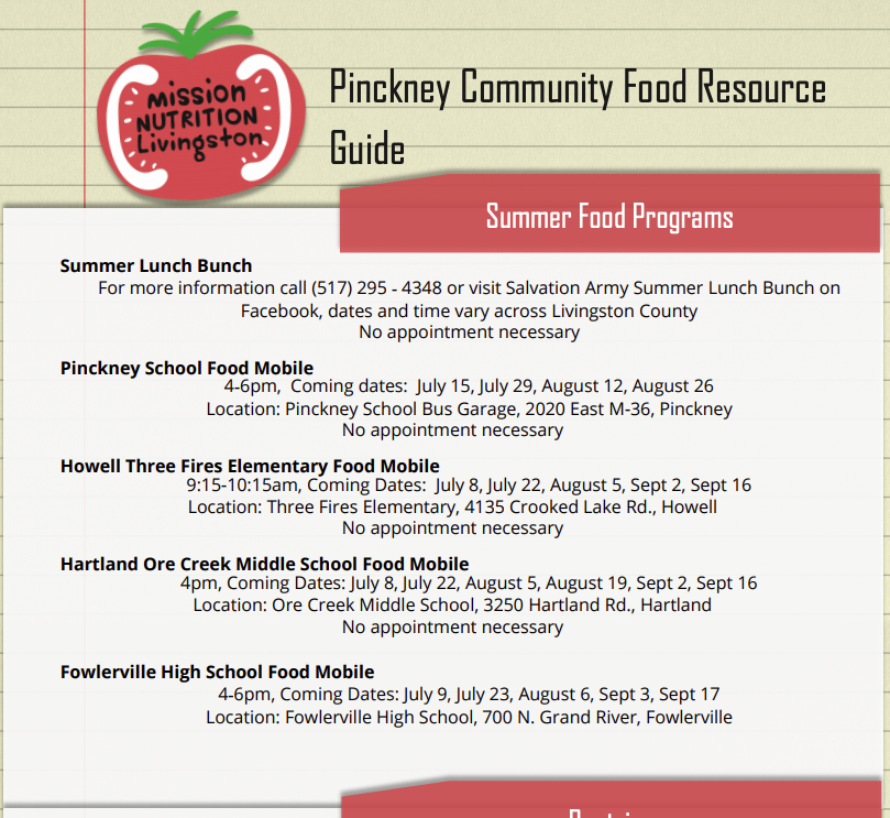 Community Food Resource Guide