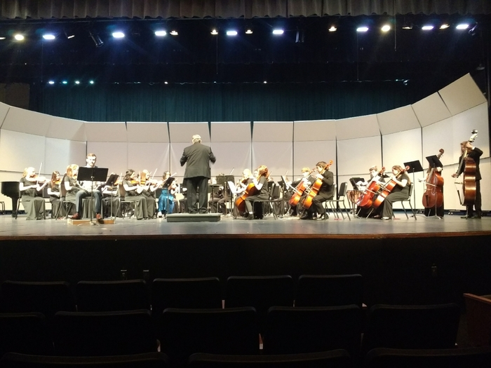 PCHS orchestra under the direction of Mr. Campbell