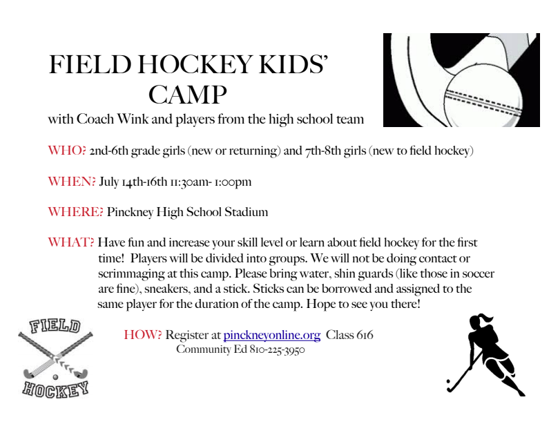 Field Hockey Camp Info