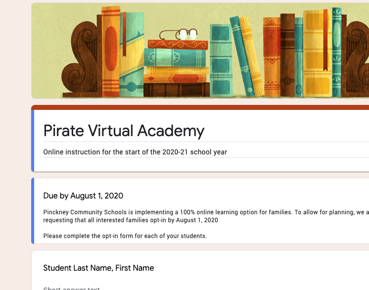 PCS Virtual Academy Form