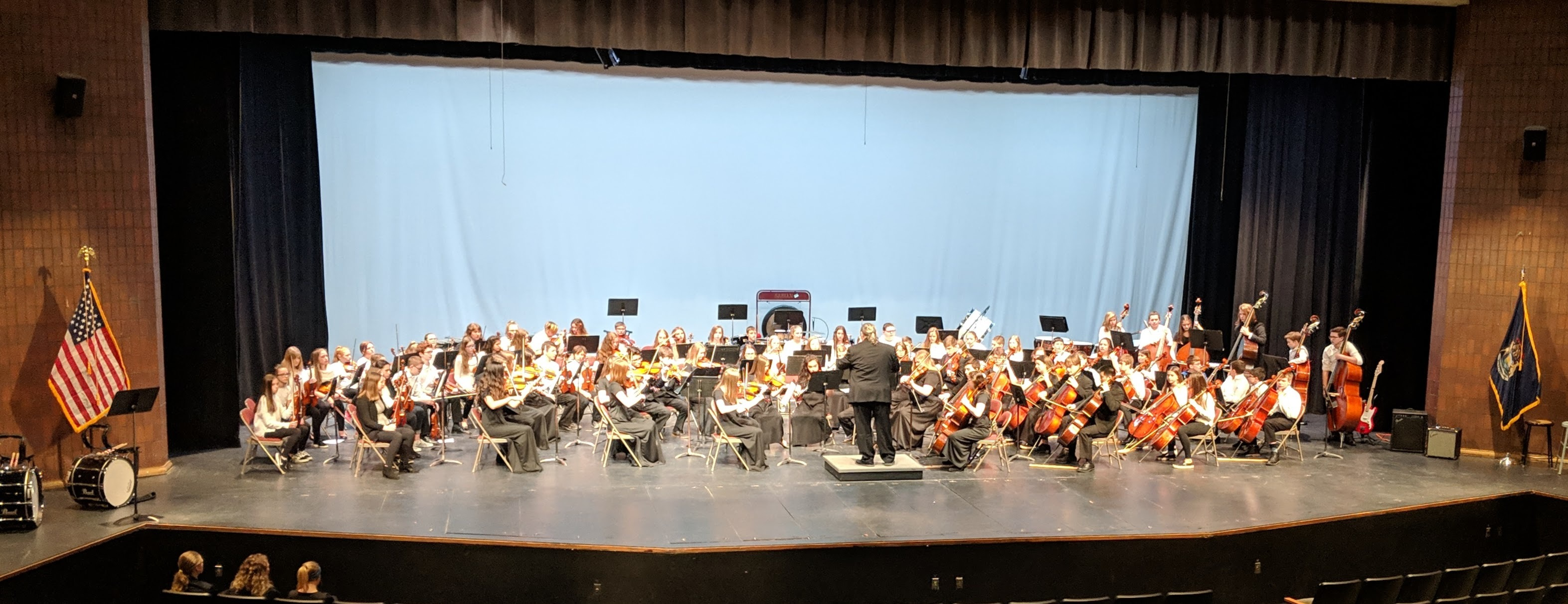 Members of the 6th grade, Pathfinder, and high school orchestras performed for our 4th graders to help them decide which elective choice to make for 5th grade.